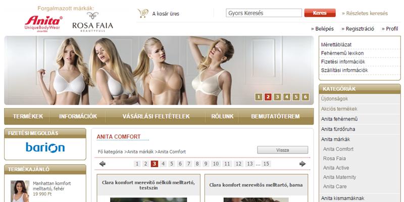 Anita fehérnemű webáruház - Cicifix.hu
